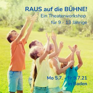 Kinder können Kunst Raus auf die Bühne Workshop Theater Kunst Verbindung elli Krenn